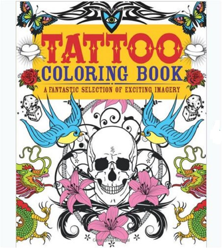 adult coloring book tattoo designs stress relief patterns relax fun shape - Body Art Tattoo Designs Coloring Book