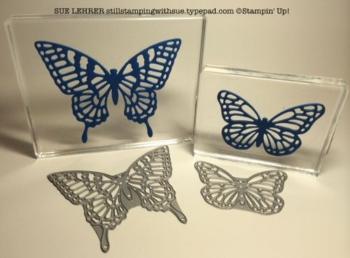 Make your own rubber stamps from the Butterflies Framelits from Stampin' Up!