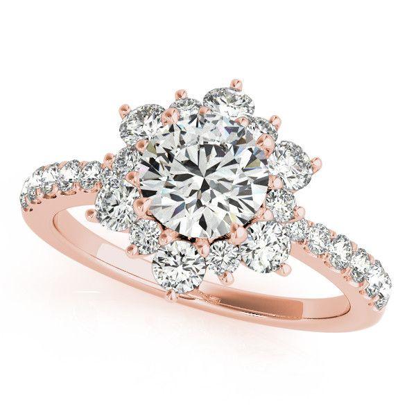 Diamond Halo Engagement Ring - Snowflake anillos de compromiso | alianzas de boda | anillos de compromiso baratos http://amzn.to/297uk4t
