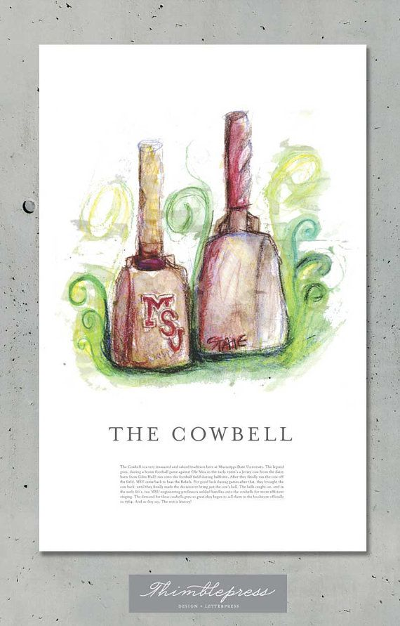 .Msu Cowbell, Mississippi States, 20 00, Mississippi State Bulldogs Art, Cowbell 20 Love, Dawgs, Msu Bulldogs, Hail States, Cowbell Prints