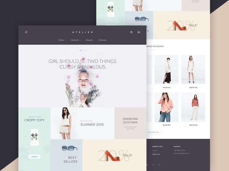 Atelier Beauty Store Fashion Web Design Beauty Store Unique Web Design