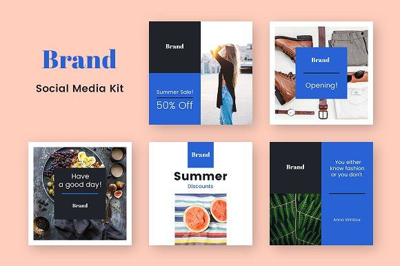 Brand Social Media Kit by uispot on @creativemarket