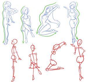 how to draw female figures, draw female bodies step 8