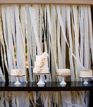 Wand van lintjes