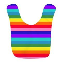 Exciting Stripes of Rainbow Colors Bib for baby by Khoncepts.com