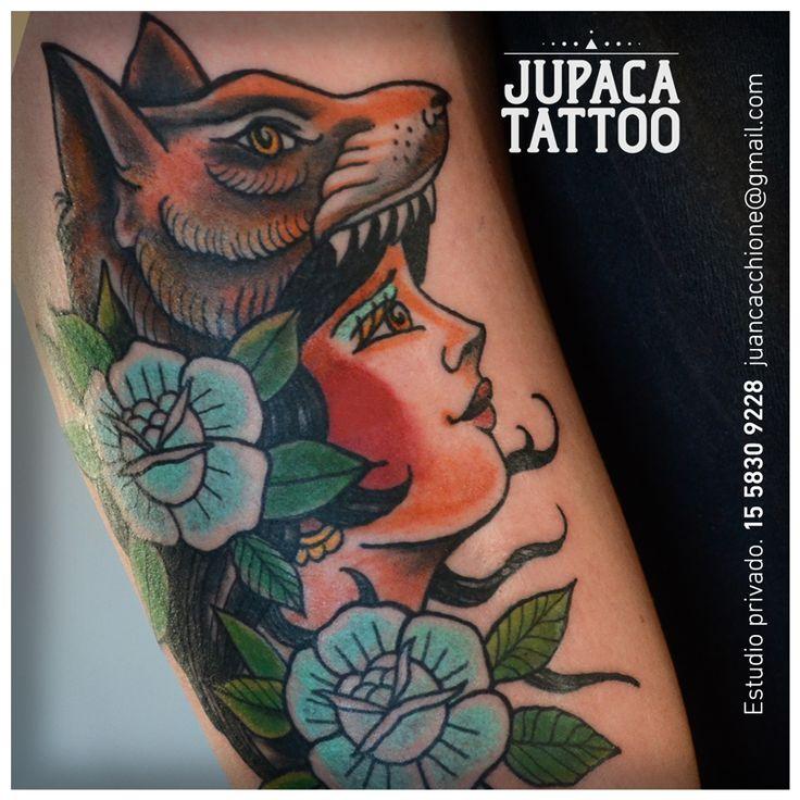 Juan Pablo Cacchione :: jupaca tattoo :: mujer tradi woman old school