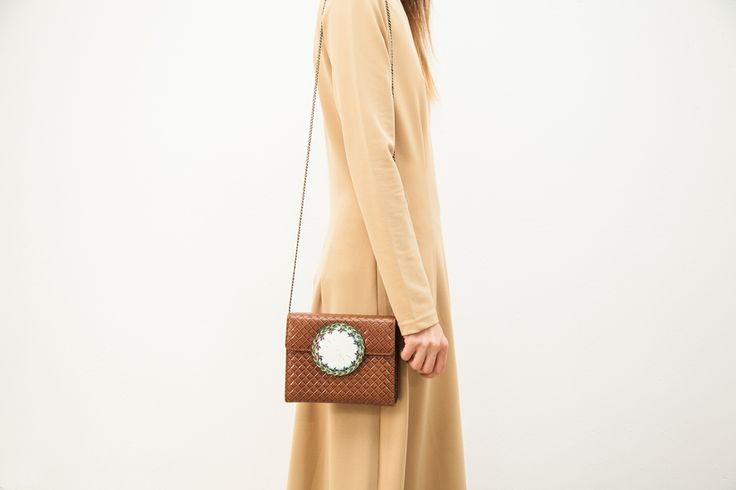 Intricate shoulder bag - get it here http://themanysides.com/products/muybridge-clutch