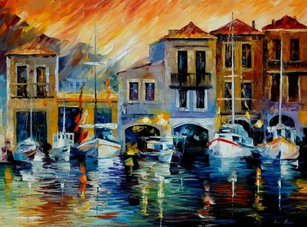 After A Day's Work - By Leonid Afremov