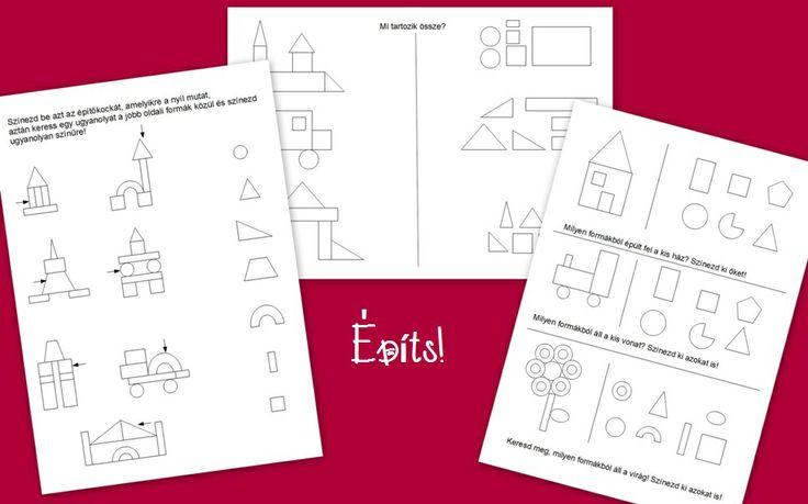 Ismerd fel a formákat! Milyen formákból épület fel a vár? Alakészlelés és gondolkodási műveletek (analízis, szintézis) fejlesztése. http://jatsszunk-egyutt.hu/autos-jatekcsomag/