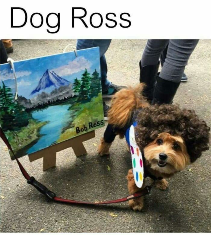 As a painter and doggie owner, I love this sweet artist.