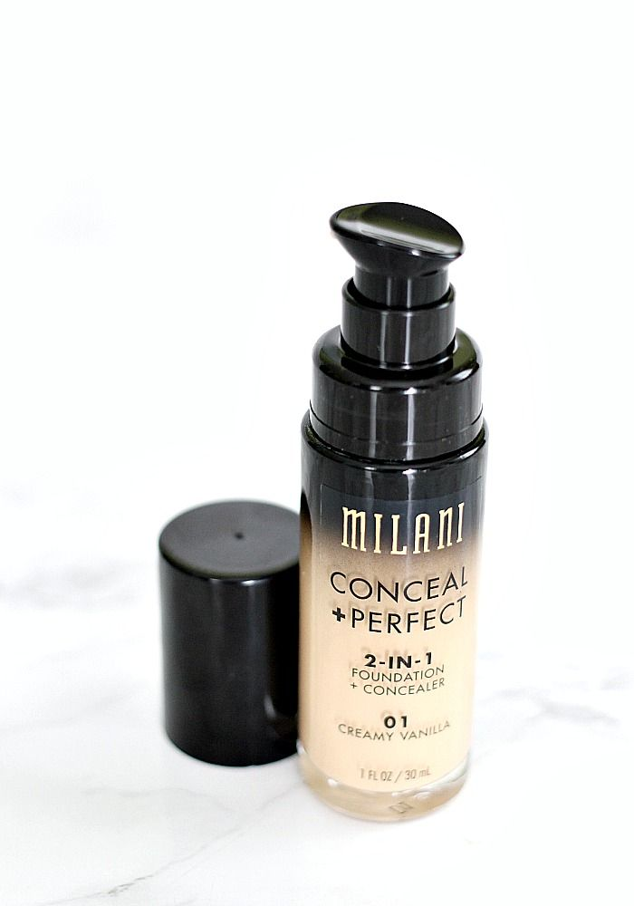 Milani Conceal + Perfect 2-in1 Foundation Review & First Impression. An affordable full coverage drugstore foundation.