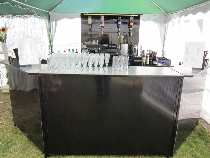 Black Mobile Bar hire wedding