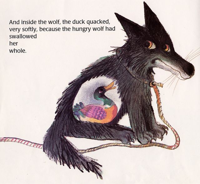 Peter and the Wolf by my vintage book collection (in blog form), via Flickr