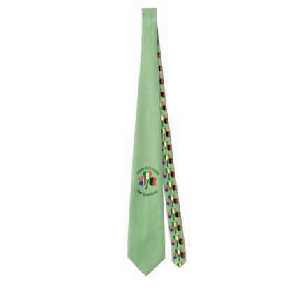 African American Flag Shamrock Neck Tie - accessories accessory gift idea stylish unique custom