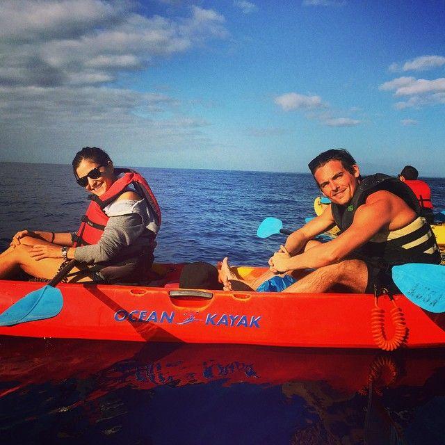 Ocean whale watching kayak. @ jaimefeld @stephaniehartherman @chrishuvane (December 29, 2014) ✨