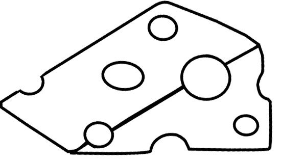 Slice Cheese Coloring Page