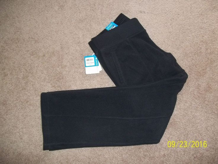 COLUMBIA Women's BLACK Fanno Fleece Active Athletic Lounge Pant Large NWT   #Columbia #Pants