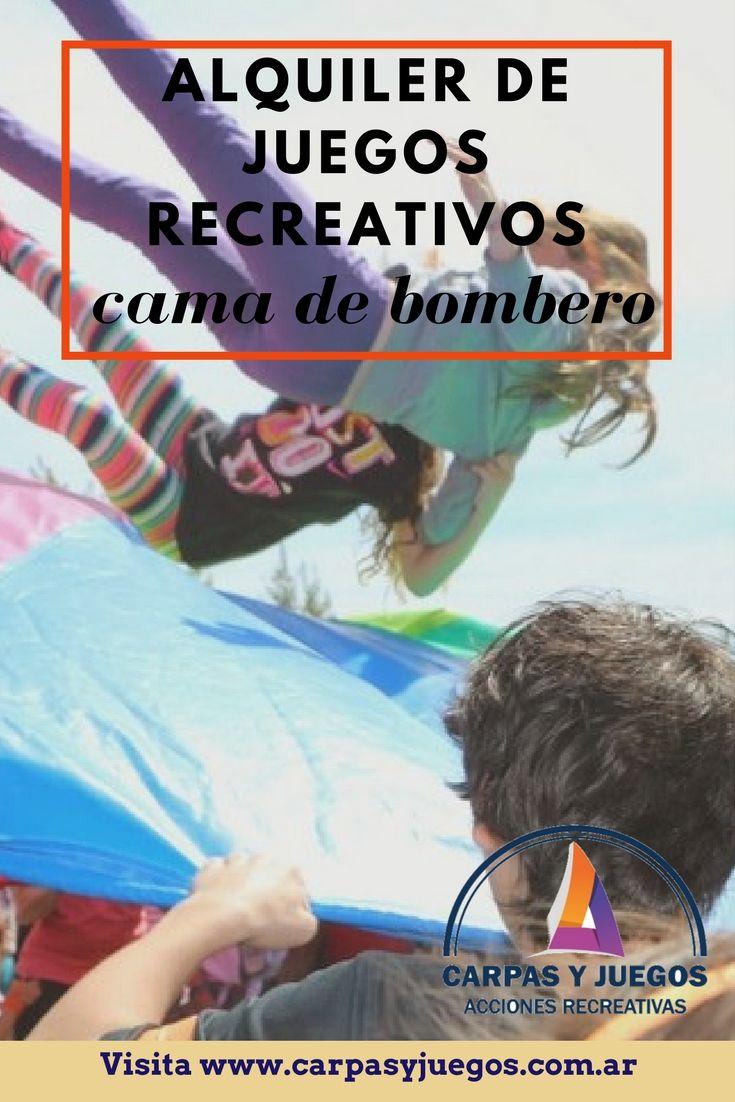 Cama de Bombero - Visitá nuestra página wwwcarpasyjuegos.com.ar ALQUILER DE JUEGOS > RECREATIVOS - #Juegos #Evento #AlquilerDeJuegos #JuegosRecreativos