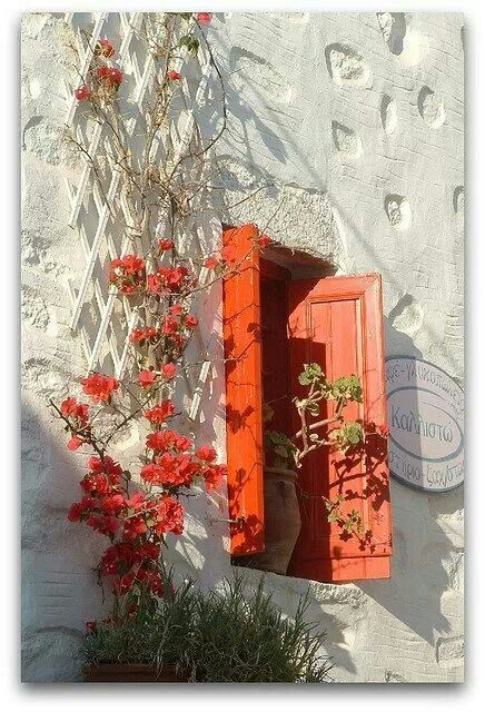Red window, Greece