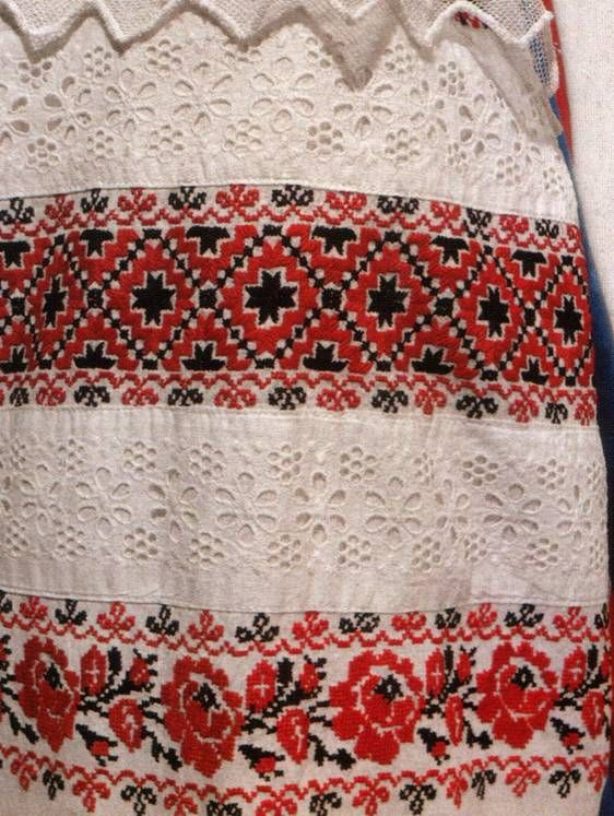 Detail of the Russian national costume