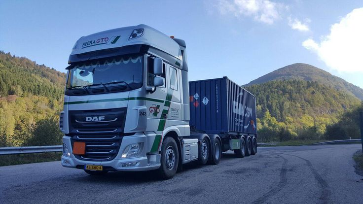 We will do anything to make sure that a hazardous transport is a harmless experience #daf #hazardous #container #transport #safety #adr