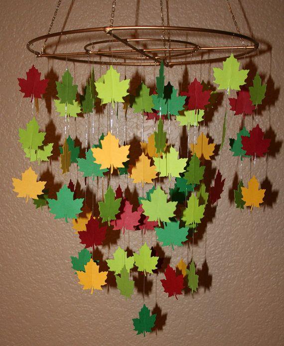 Lovely Falling Leaves Mobile 12 Ring por artCboutique en Etsy