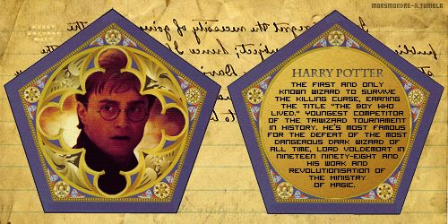 Harry, Ron, and Hermione all got their own Chocolate Frog cards.
