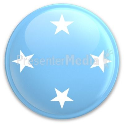 An image of Micronesia's flag on a button. #powerpoint #clipart #illustrations