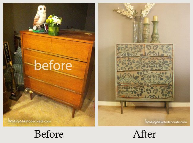 diy modern vintage furniture makeover. Furniture Makeovers: The Power Of Paint - This Mid-century Modern Dresser Had Great Lines. All It Needed Was A Little Revamping. Annie Sloan Chalk And Diy Vintage Makeover