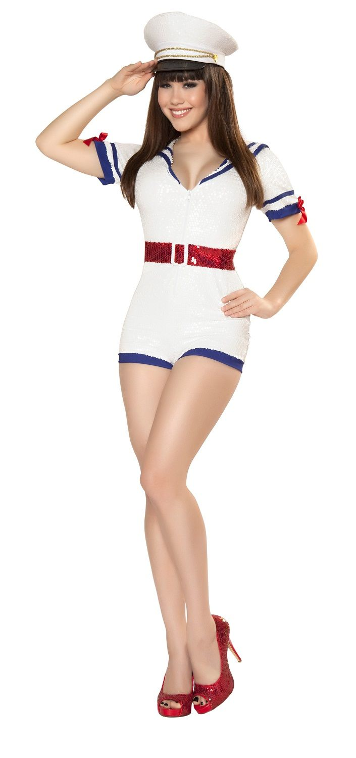 playful pinup captain costume rm4340 from costume shopcom sexy vintage military costumes - Pageant Girl Halloween Costume