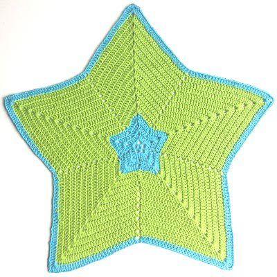 hæklet stjernetæppe