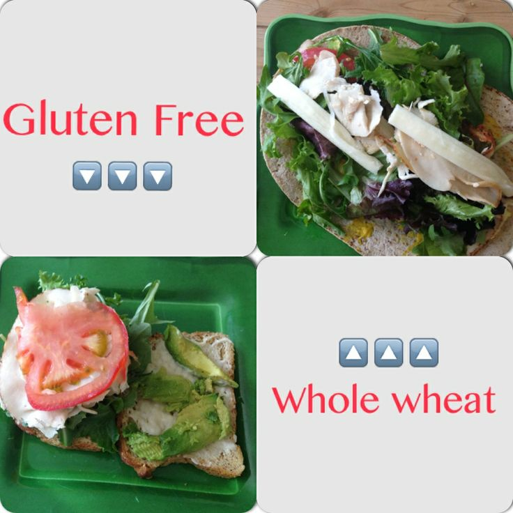 Coach Whitney is gluten free and so her sandwich is Canyon Bakehouse gluten free 3-Grain bread with fresh sliced chicken breast, avocado, light veganaise, mustard, tomato and spring mix lettuce.   Coach Dede doesn't have any allergies and so he is eating Flat Out multi-grain flatbread with the same ingredients as Whitney but he added string cheese. Soo yummy! And a perfect balance of protein, carbs, fat for a midday meal. Enjoy!!! All ingredients from Sprouts❤