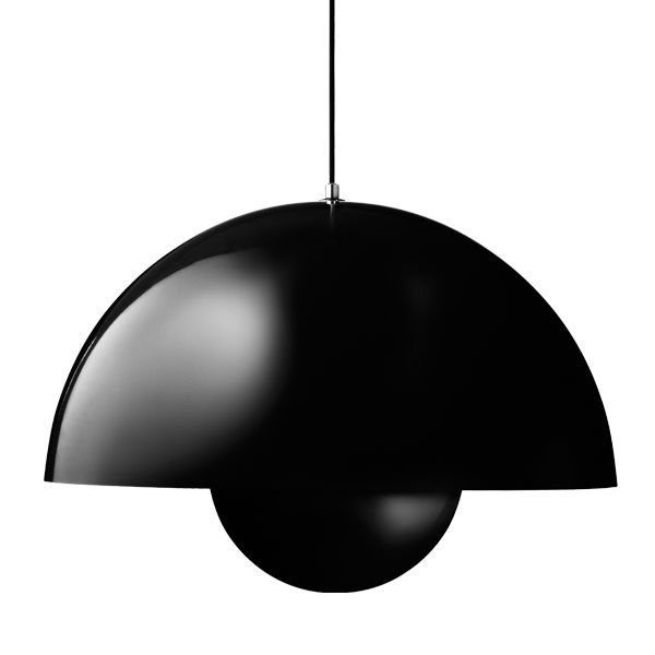 Big Flower Pot VP2 pendant, black 650