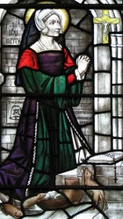 """blessed-margaret-pole - Martyr of England.She was born Margaret Plantagenet,the niece of Edward IV and Richard III.She married Sir Reginald Pole about 1491 and bore five sons, including Reginald Cardinal Pole. Margaret was widowed,named countess of Salisbury,and appointed governess to Princess Mary,daughter of Henry VIII/Queen Catherine of Aragon, Spain.She opposed Henry's marriage to Anne Boleyn,and the king exiled her from court,although he had called her """"the holiest woman in England."""""""