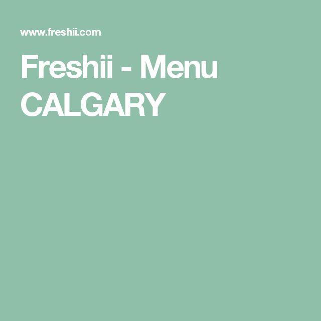 Freshii -   Menu CALGARY
