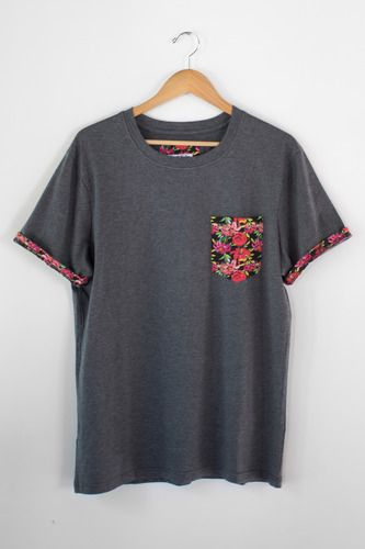 Gray Floral Pocket Print T-Shirt - All - Smooth Sailing Clothing Co.