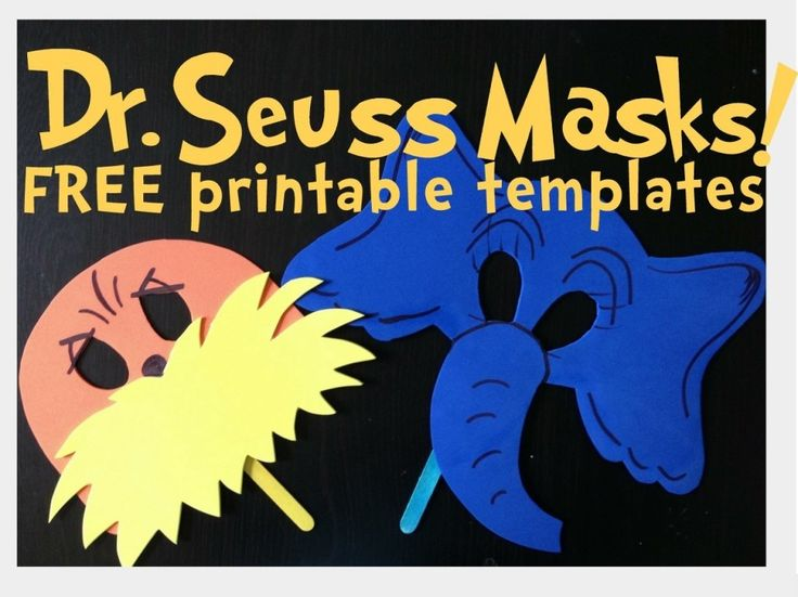 Dr Seuss Mask Template Dr. Seuss crafts, activities, etc. on Pinterest ...