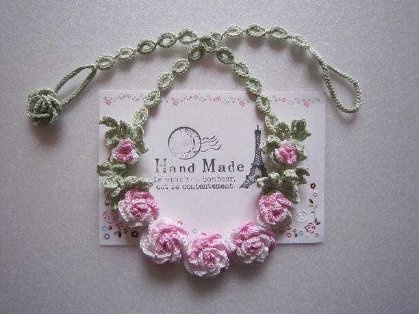 薔薇のネックレス画像1