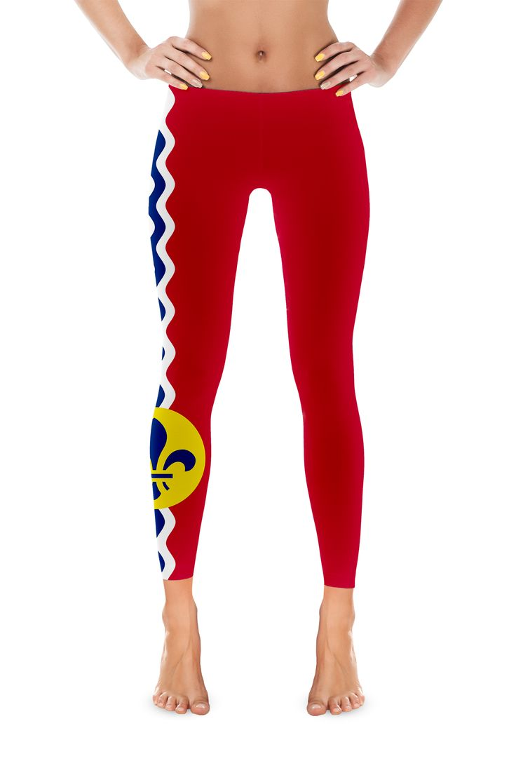 St. Louis City Flag Womens Leggings - My State Shirts
