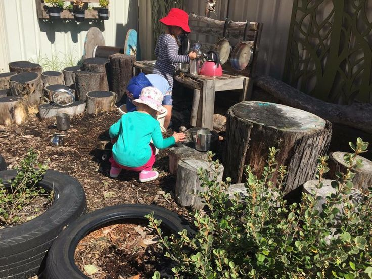 A+huge+collection+of+ideas+for+creative+outdoor+play+areas+shared+by+early+years+educators.+Try+them+in+the+backyard+or+daycare+spaces!
