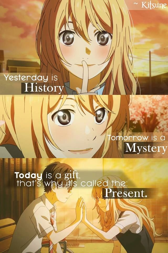 Yesterday is a history, tomorrow is a mystery but today is the present that what make it important.