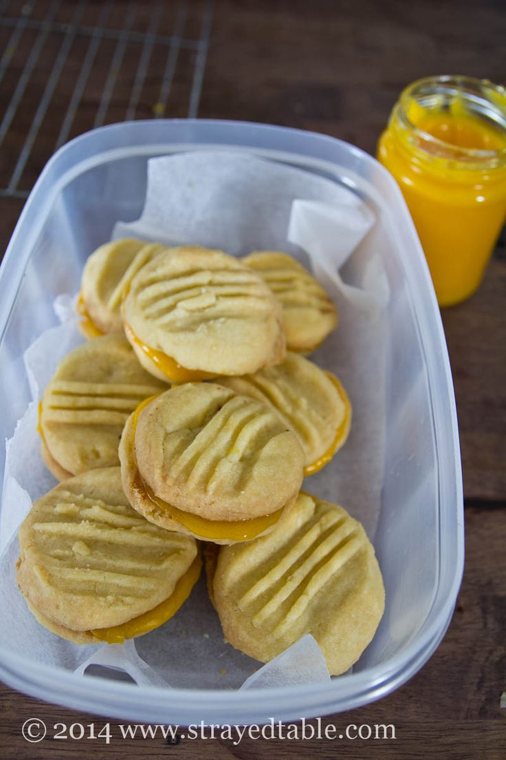 Melting Moments with Lemon Curd | Strayed From The Table