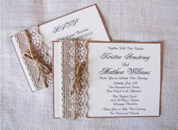 Burlap Wedding Invitations Diy: 12 Best Wedding Invitation Ideas Images On Pinterest