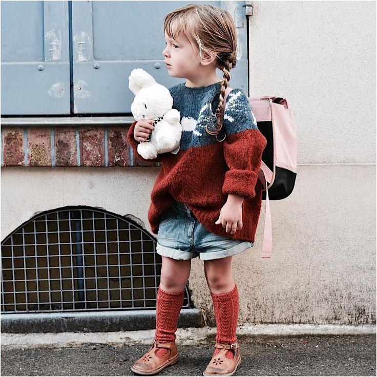 Choufleurlajolie sur Instagram : 2ème jour, une petite matinée et demain ce sera sa première grande journée #lookdujour #kidslookbook #bobochoses #smallable #vertbaudet… • Instagram