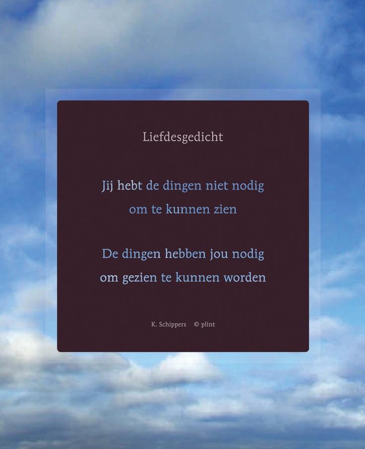 Liefdesgedicht - K.Schippers ⓒ plint