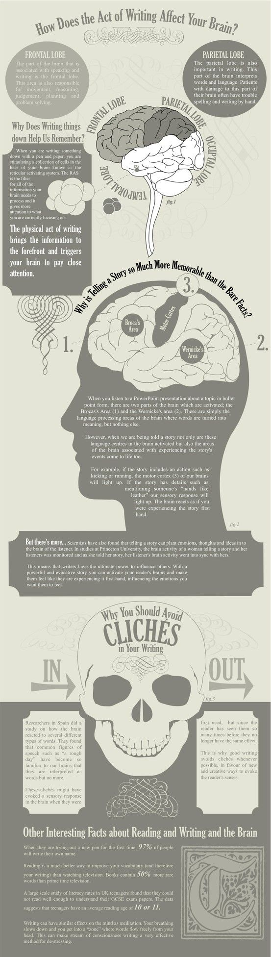 Reading and writing and the brain