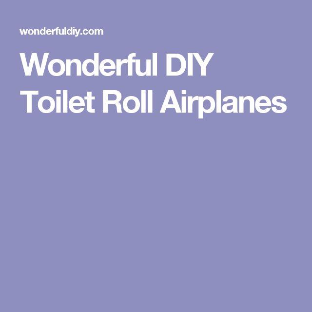 Wonderful DIY Toilet Roll Airplanes