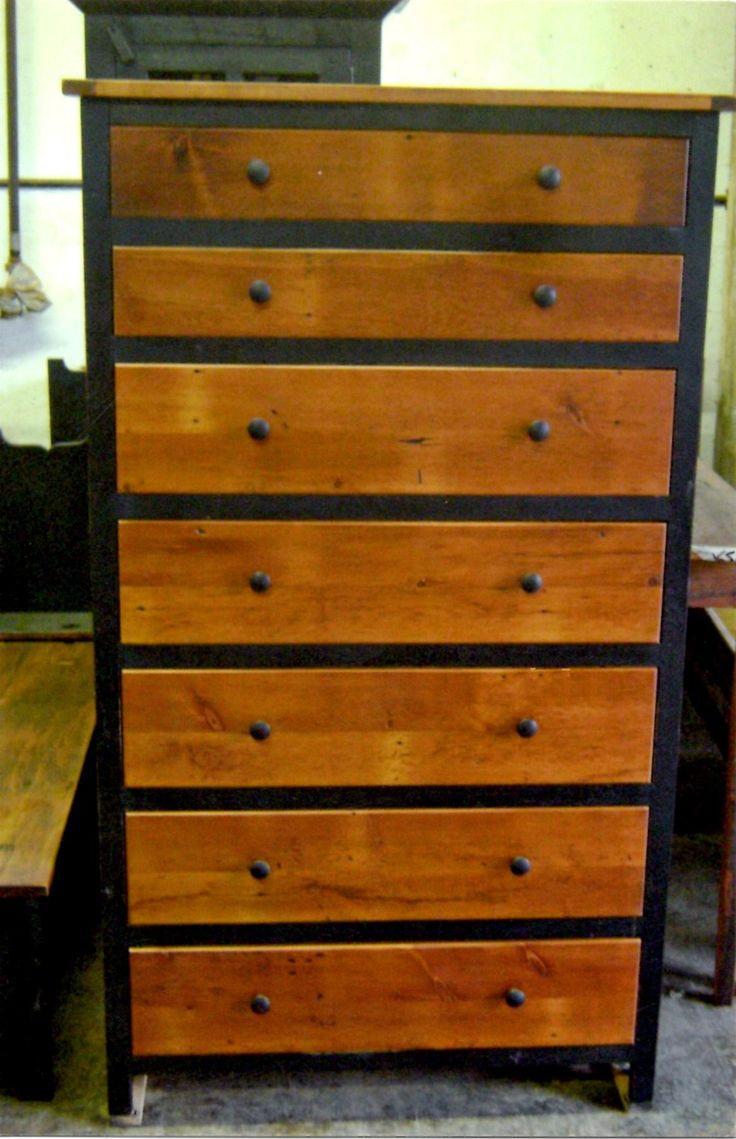 Barn wood furniture - Chest Of Drawers Reclaimed Barn Wood White Pine Was Used To Make This Chest Which Boasts Seven Drawers For Storage The Combo Of Paint And Stain
