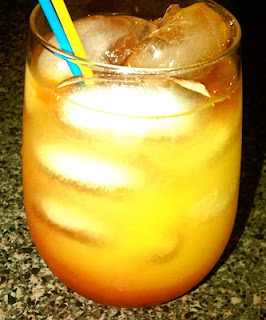 Twisted Tequila Sunrise - quick weeknight drink!