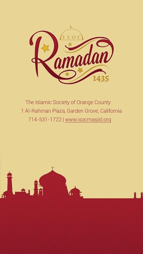 The Islamic Society of Orange County (ISOC) is a religious non-profit organization located in Orange County, California.  It provides various community services, including daily/weekly prayers, a full time school, a weekend school, a youth group, a mortuary for funeral services, a food pantry and other assistance programs and social services, regular classes and programs for all ages, as well as seminars and workshops for a variety of topics.This application (Ramadan 1435 At ISOC) is spec...